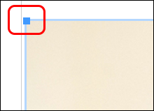 blue handle to make image smaller