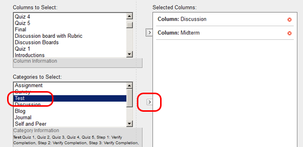 Grade Center Customizing Total Column