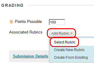 Attach a rubric to an assessment