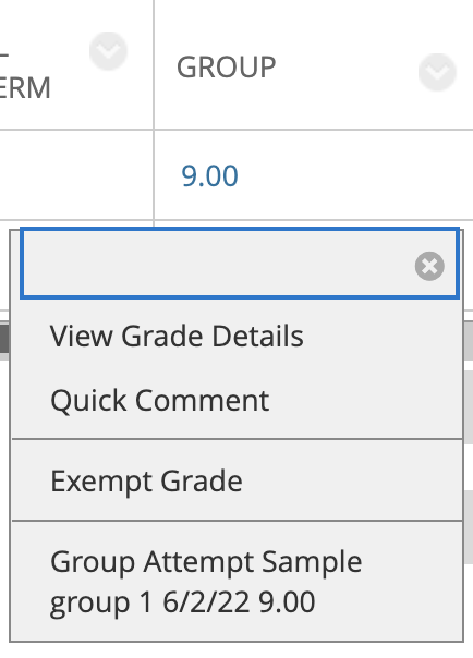 Group Grade Change
