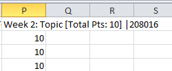 Add Grades to Excel