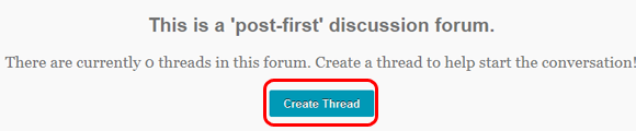 Post-first discussion forum
