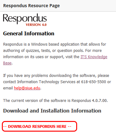 Download Respondus