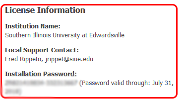 Instructions for password