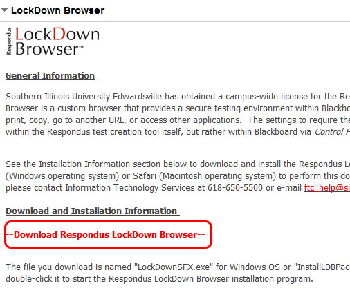 Download Respondus LockDown Browser