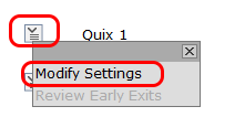 modify settings