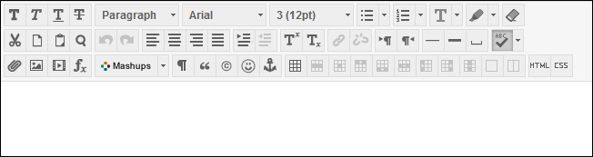 Rows of icons in text box