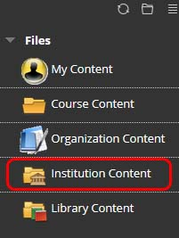 Select Institutional Content