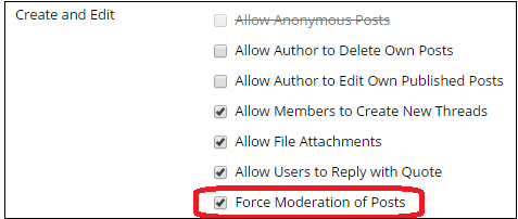 force mod of posts