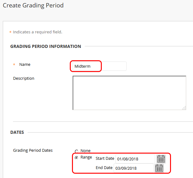 Add grading periods page