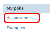 Account Polls button