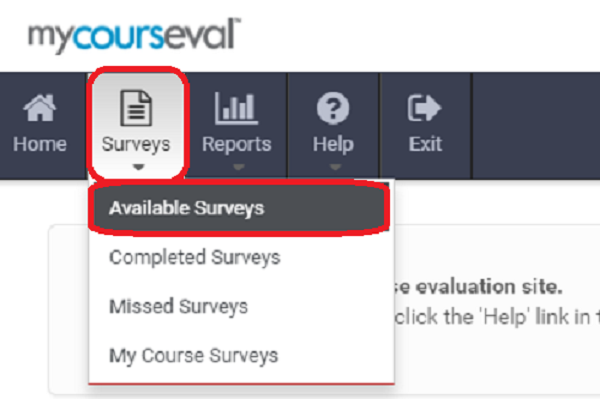 Available Surveys