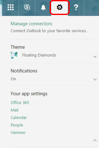 Image shows to click on the Settings icon, looks like a cog
