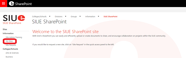 SharePoint My Sites