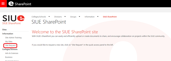 SharePoint Site Request