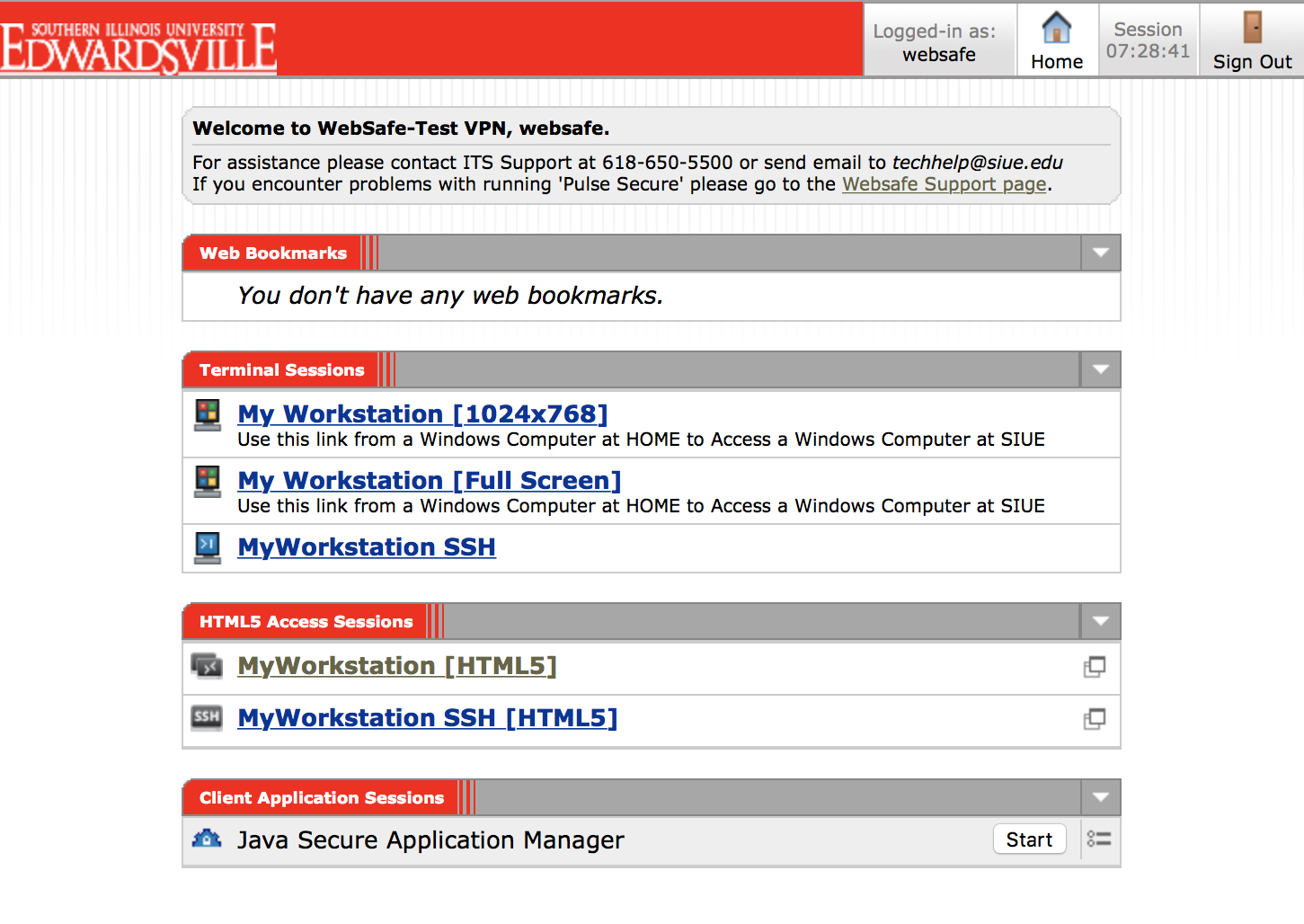 Websafe Screenshot