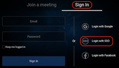 Sign in and Login with SSO