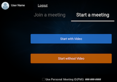 Join or start a meeting